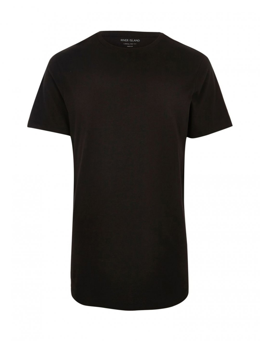 "Black Longline T-Shirt {""id"":5,""product_section_id"":1,""name"":""Clothing"",""order"":5} River Island"