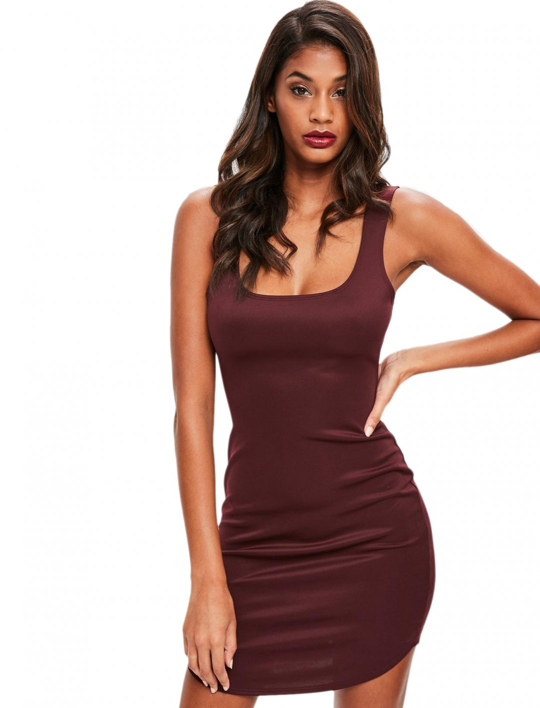 "Burgundy Bodycon Dress {""id"":5,""product_section_id"":1,""name"":""Clothing"",""order"":5} Missguided"
