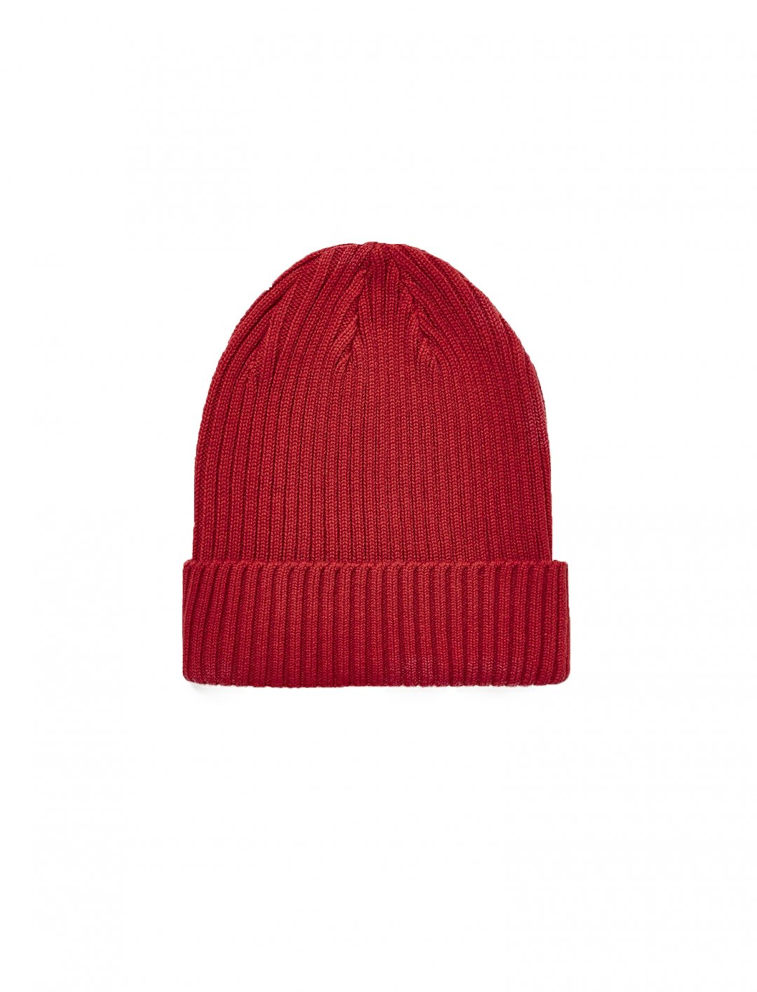 Bright Red Ribbed Beanie Accessories Topman
