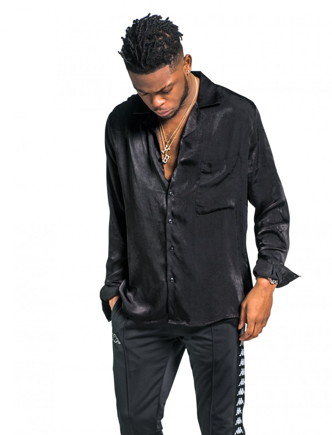 Yxng Bane's Satin Shirt Clothing Mennace