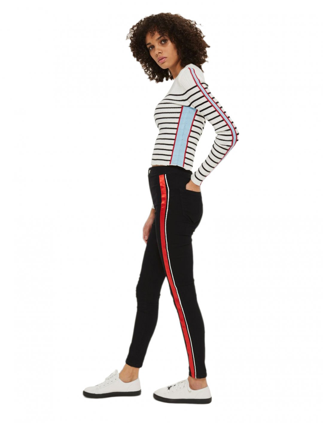"Moto Striped Jeans {""id"":5,""product_section_id"":1,""name"":""Clothing"",""order"":5} Moto"
