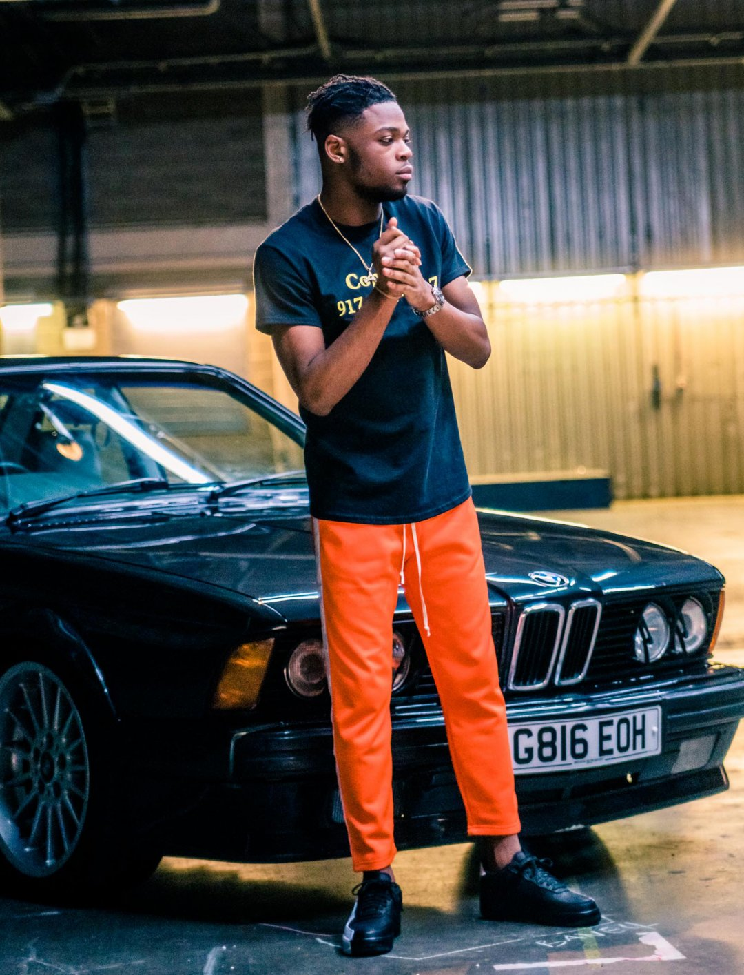 "Yxng Bane's Cropped Tracksuit Bottoms {""id"":5,""product_section_id"":1,""name"":""Clothing"",""order"":5} Mennace"