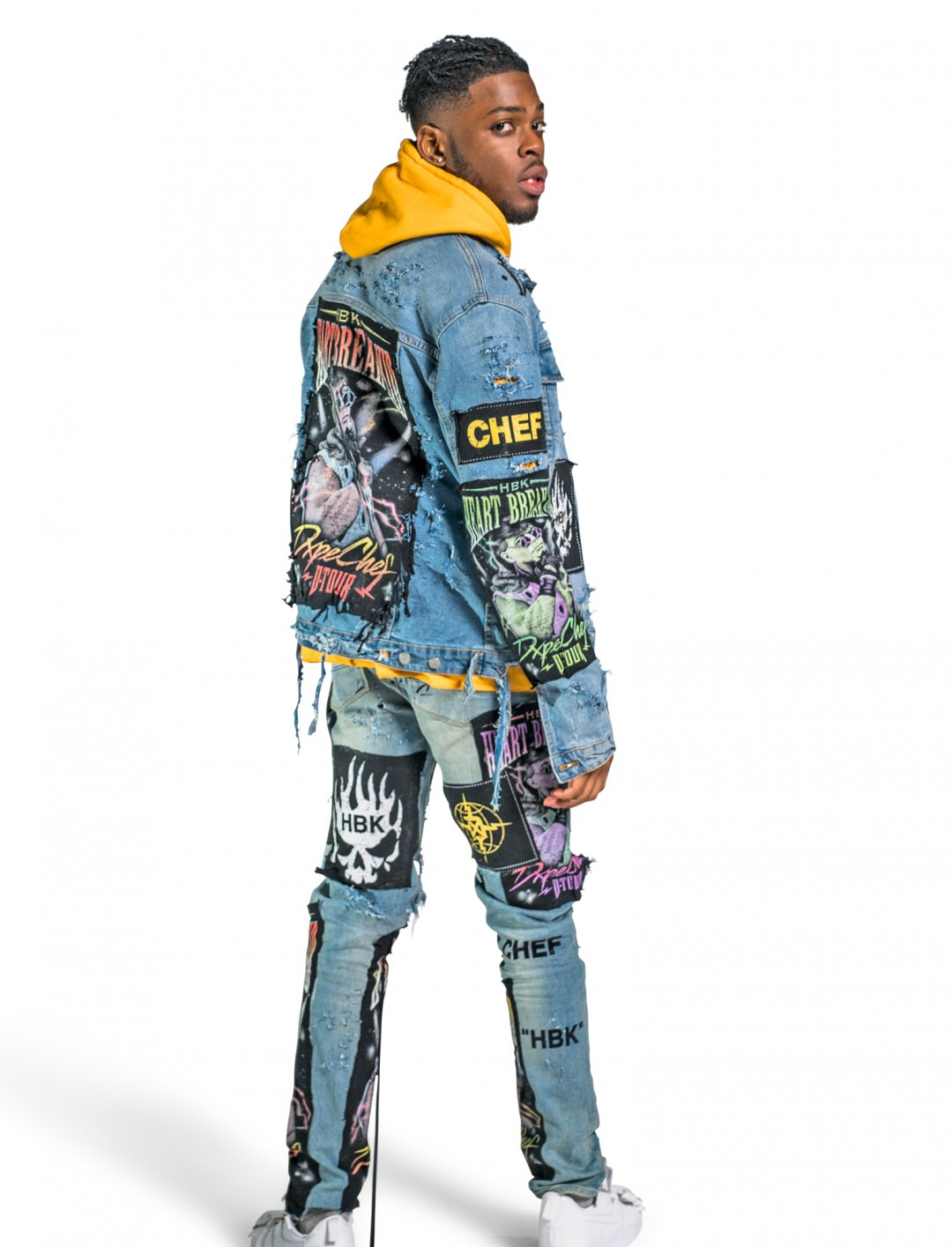Yxng Bane's HBK Denim Jacket Clothing Dxpe Chef
