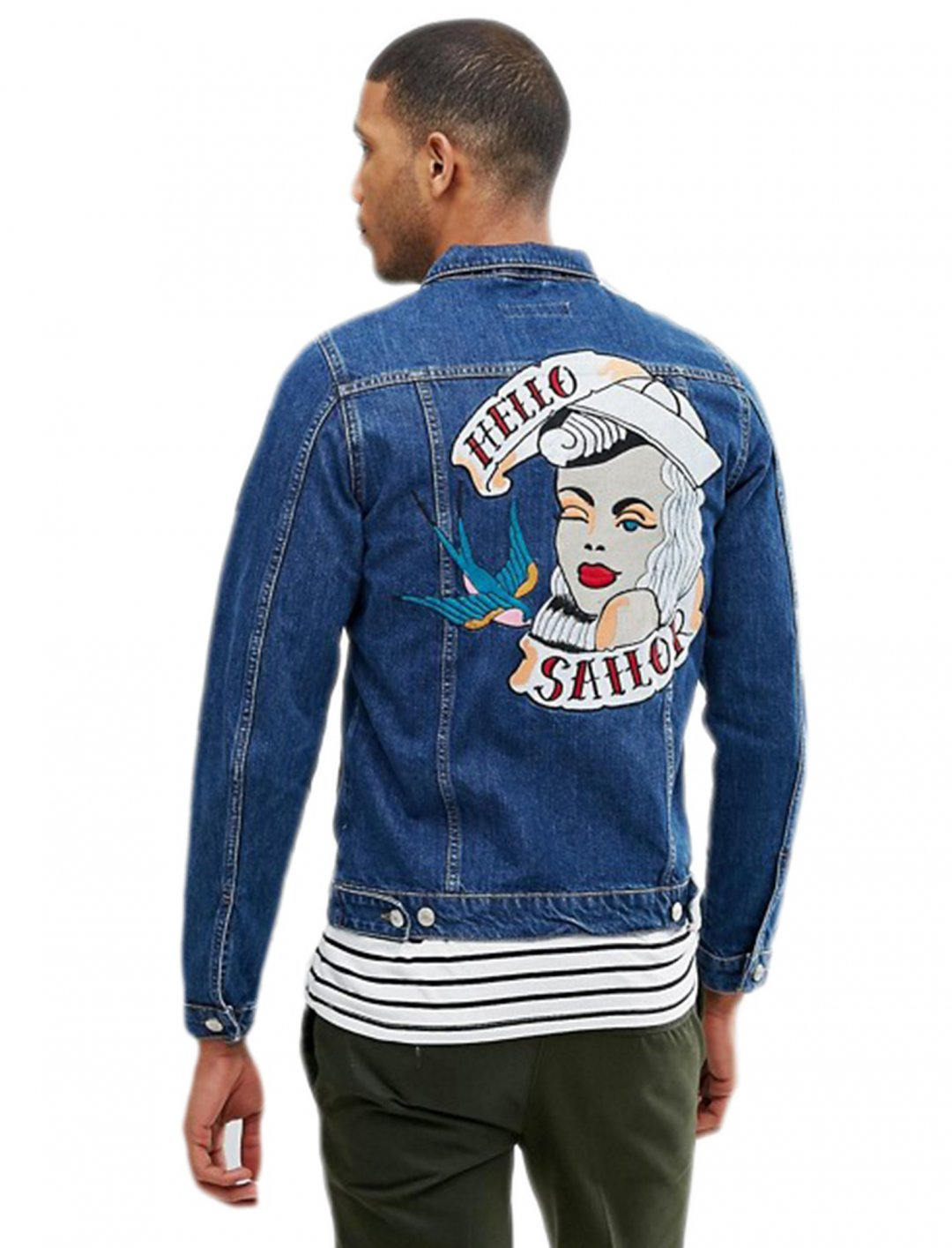 "Just Junkies Denim Jacket {""id"":5,""product_section_id"":1,""name"":""Clothing"",""order"":5}  Just Junkies"
