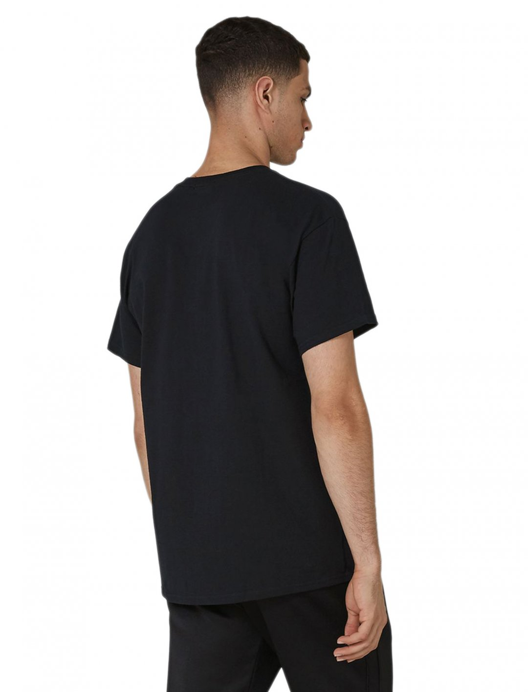 "Black 'Legacy' Print T-Shirt {""id"":5,""product_section_id"":1,""name"":""Clothing"",""order"":5} Topman"