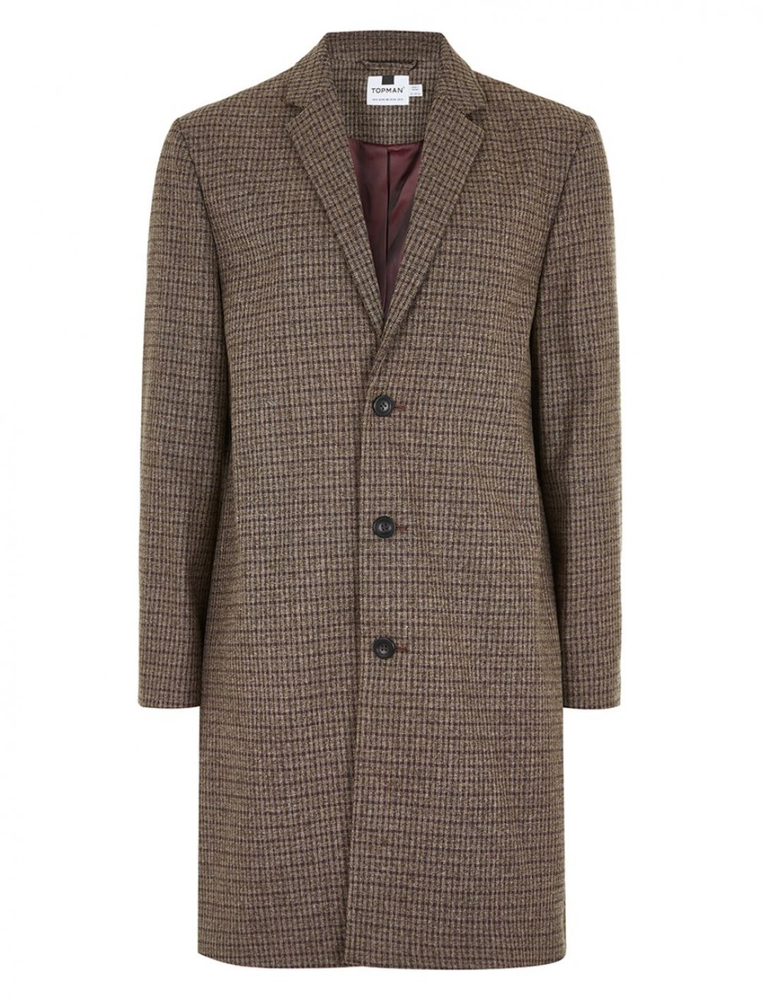 "Topman Checked Overcoat {""id"":5,""product_section_id"":1,""name"":""Clothing"",""order"":5} Topman"