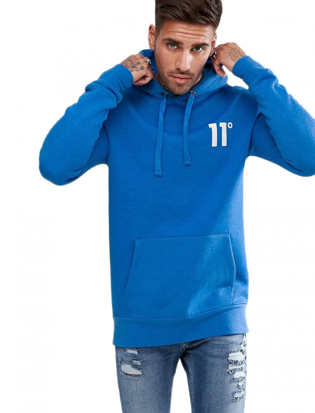 "Hoodie In Blue {""id"":5,""product_section_id"":1,""name"":""Clothing"",""order"":5} 11 Degrees"