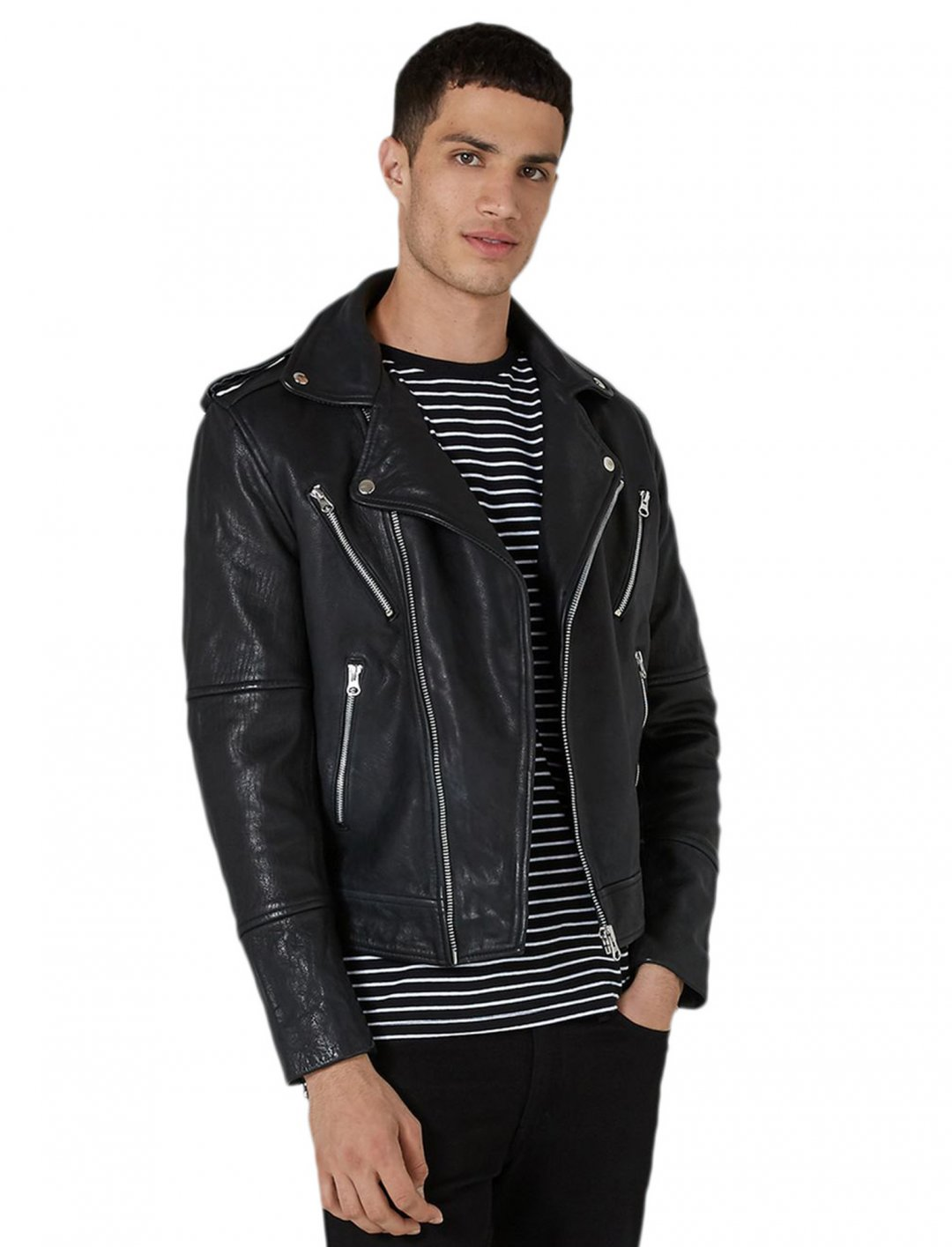 "Topman Biker Jacket {""id"":5,""product_section_id"":1,""name"":""Clothing"",""order"":5} Topman"