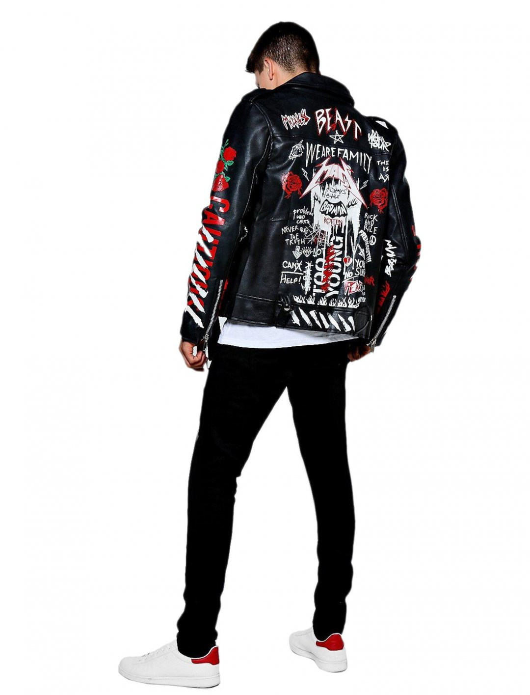 "Boohoo Biker Jacket {""id"":5,""product_section_id"":1,""name"":""Clothing"",""order"":5} Boohoo"