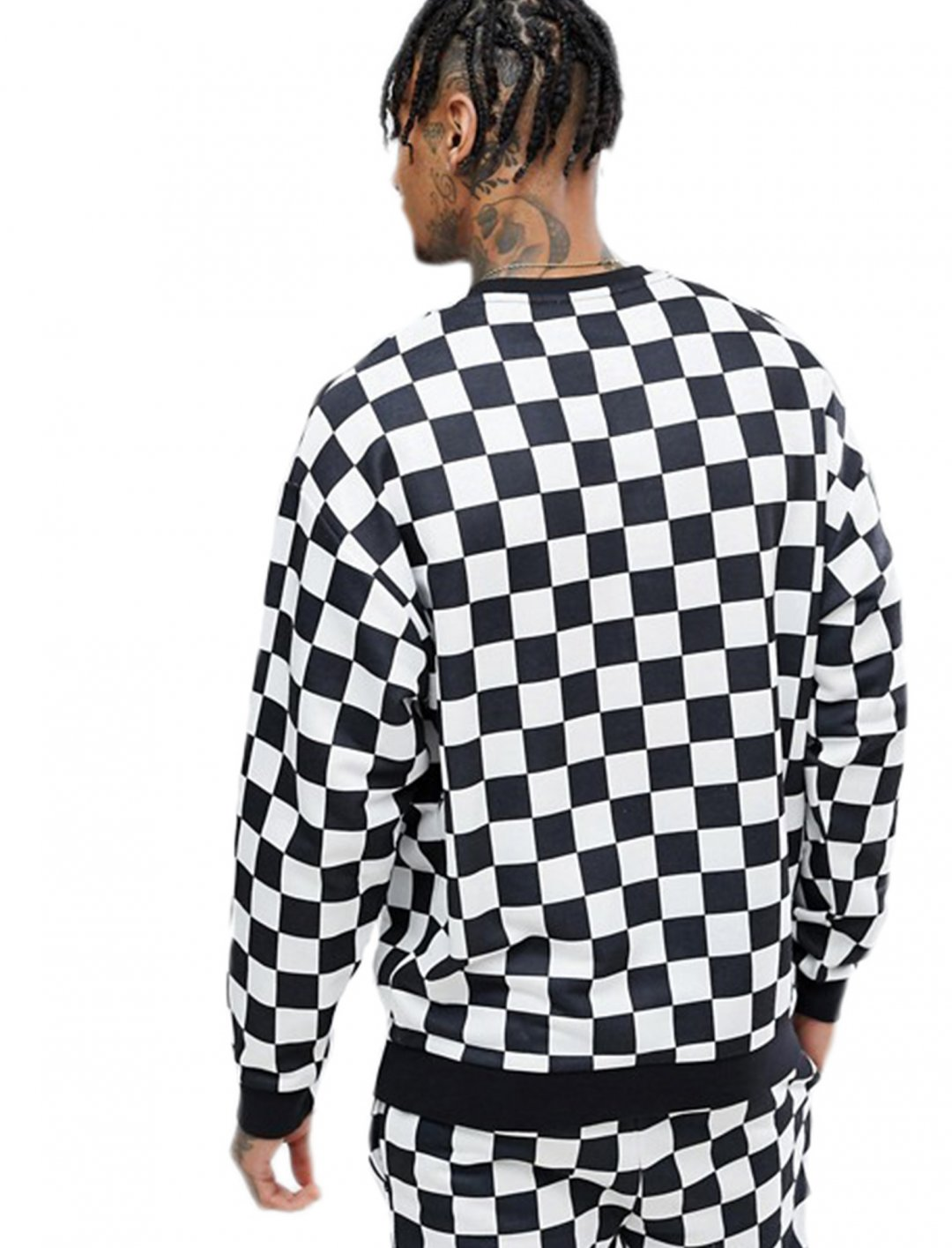 "Asos Sweatshirt In Checkerboard {""id"":5,""product_section_id"":1,""name"":""Clothing"",""order"":5} Asos"