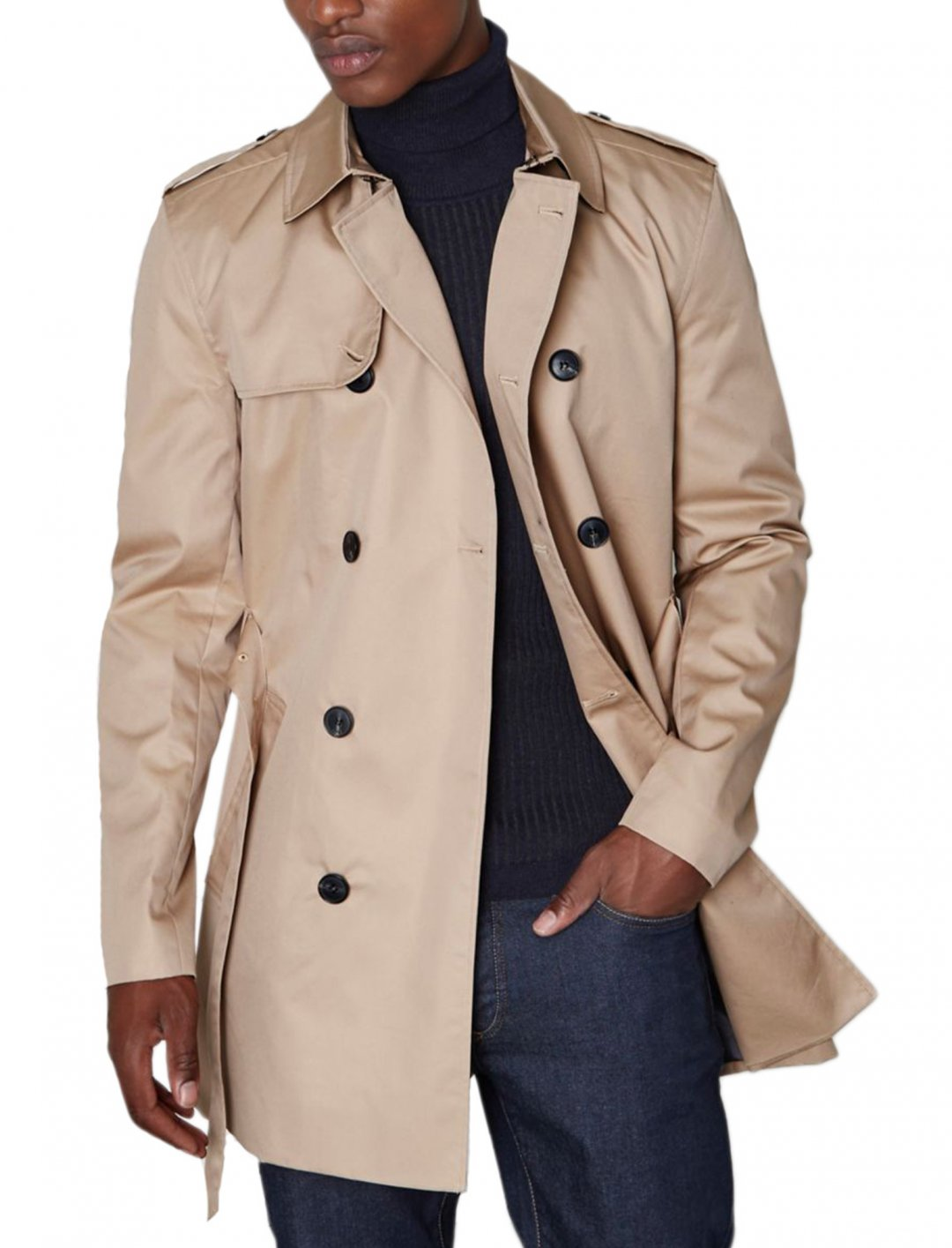 "Dark Beige Belted Mac {""id"":5,""product_section_id"":1,""name"":""Clothing"",""order"":5} River Island"