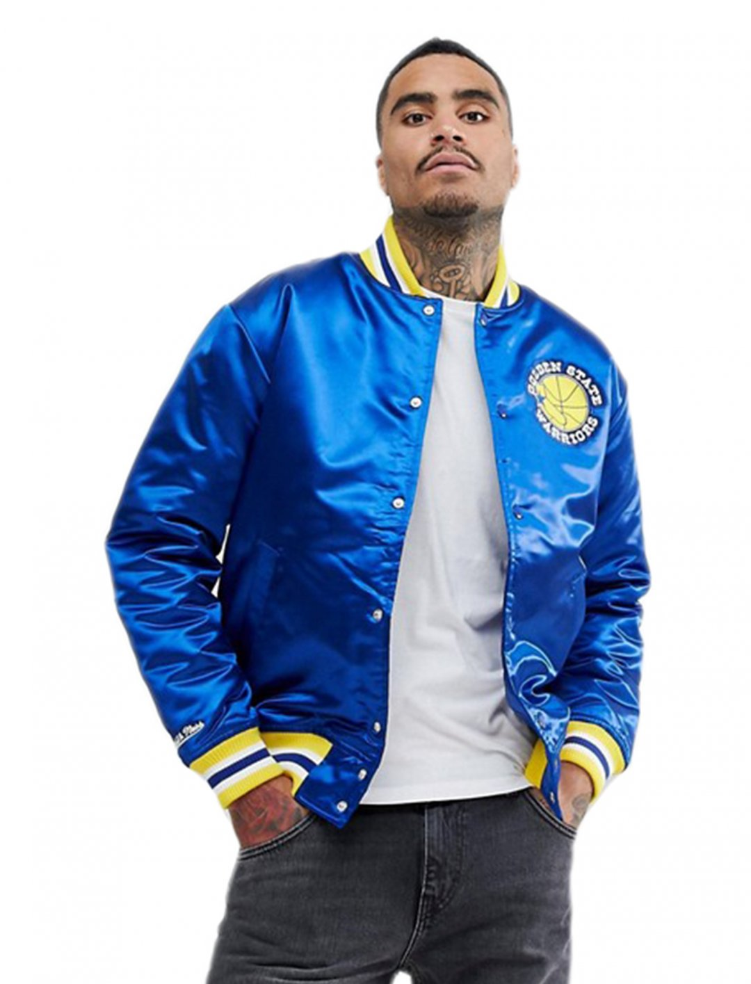 "Mitchell & Ness Jacket {""id"":5,""product_section_id"":1,""name"":""Clothing"",""order"":5} Mitchell & Ness"