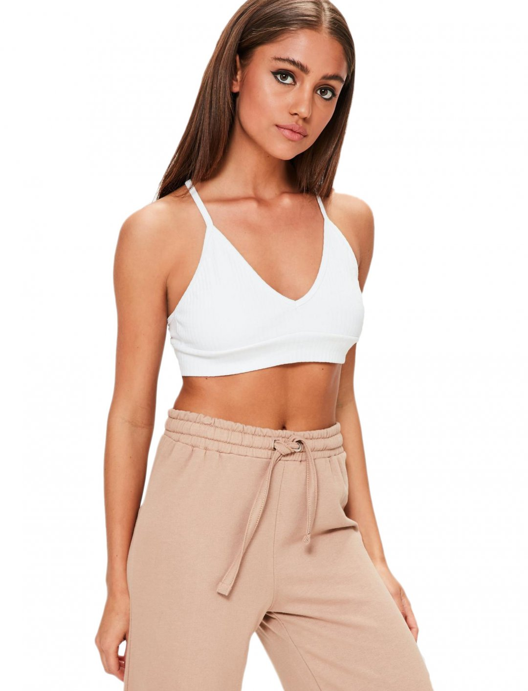Missguided White Bralet Clothing Missguided