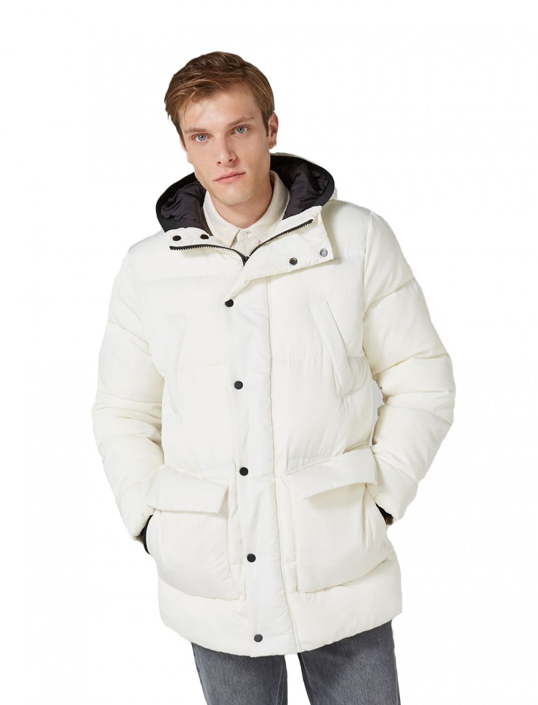 """Topman White Tundra Parka {""""id"""":5,""""product_section_id"""":1,""""name"""":""""Clothing"""",""""order"""":5} Topman"""