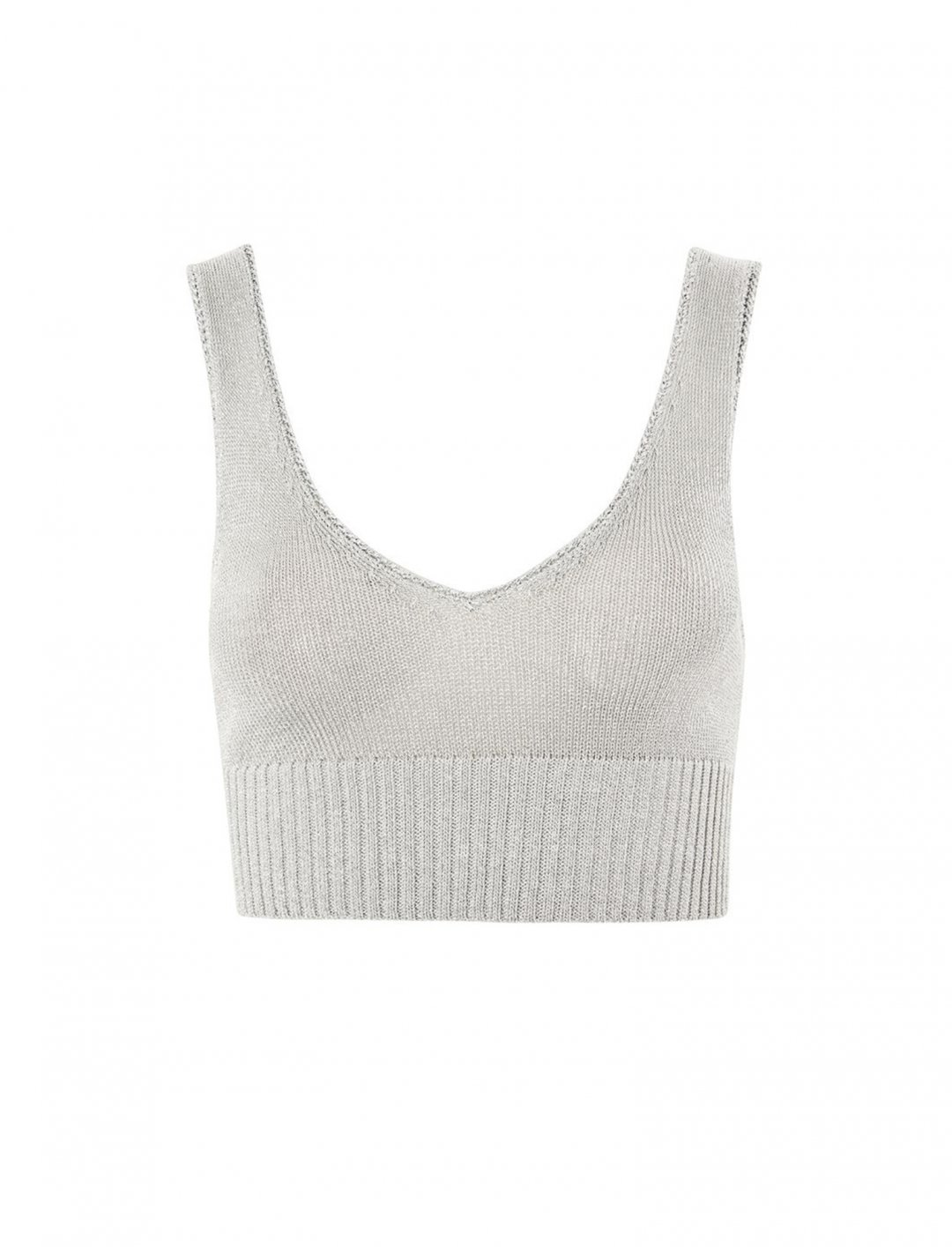 """Topshop Metal Yarn Bralet {""""id"""":5,""""product_section_id"""":1,""""name"""":""""Clothing"""",""""order"""":5} Topshop"""