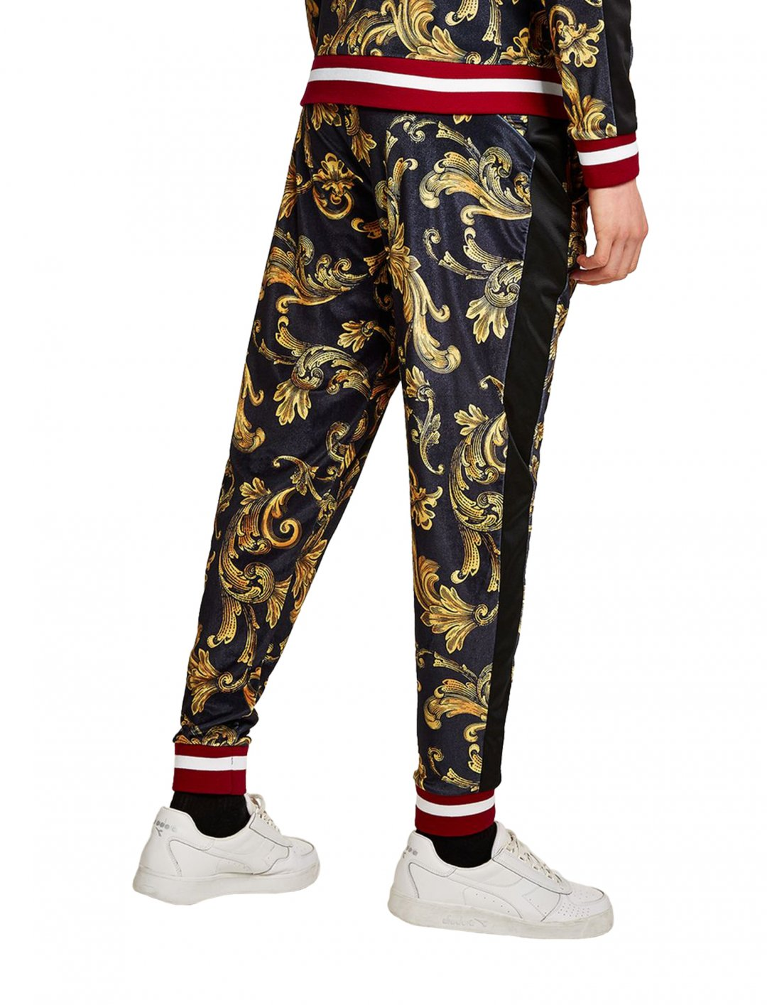 "Jaded's Baroque Velvet Joggers {""id"":5,""product_section_id"":1,""name"":""Clothing"",""order"":5} Jaded London"
