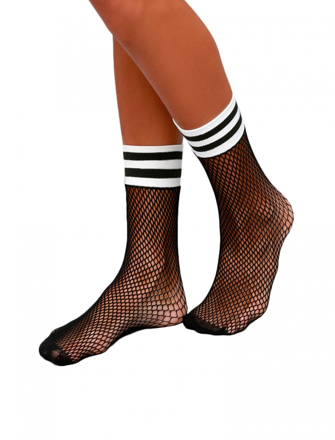 """Lulus Striped Fishnet Socks {""""id"""":16,""""product_section_id"""":1,""""name"""":""""Accessories"""",""""order"""":15} Lulus"""