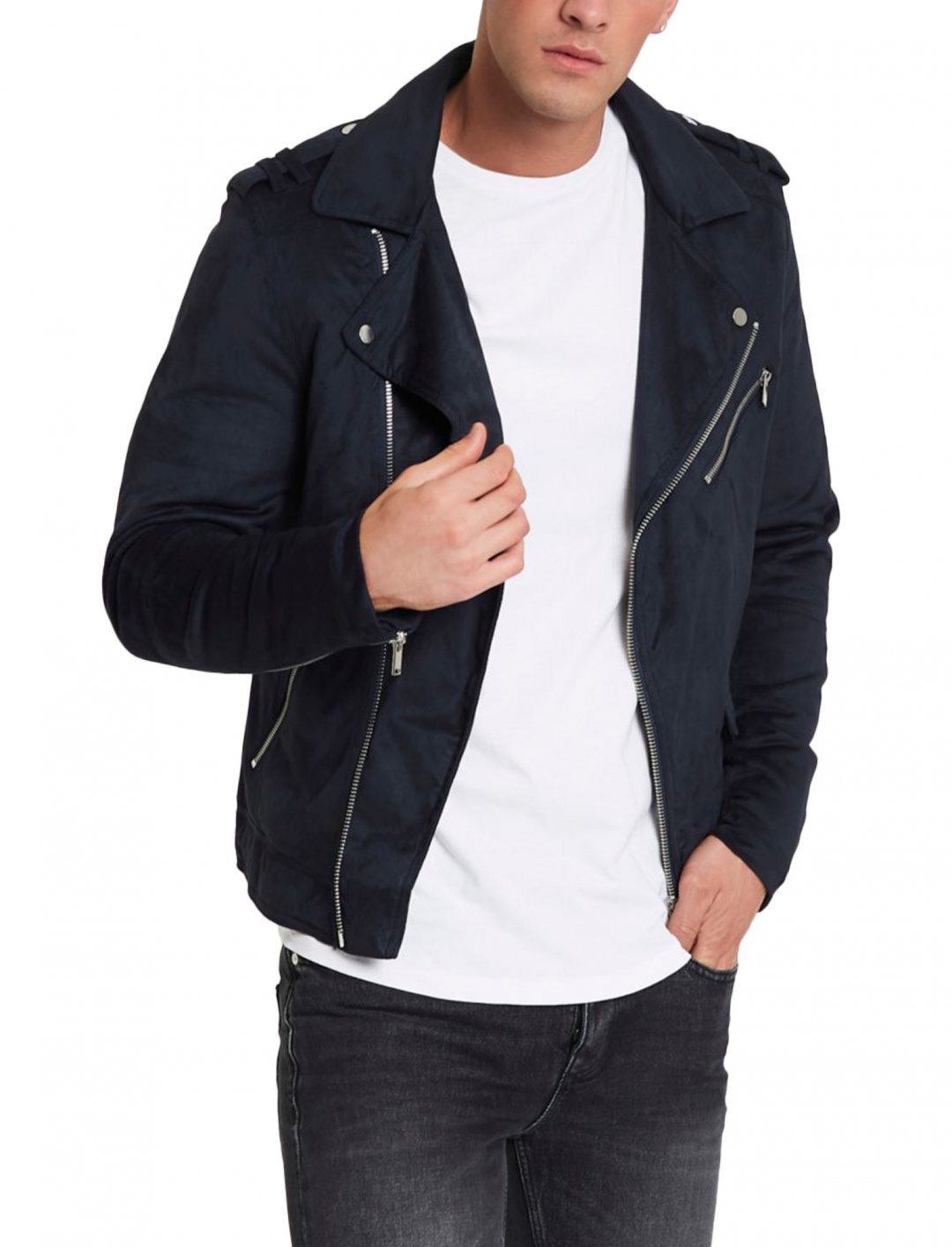 "River Island Suede Biker Jacket {""id"":5,""product_section_id"":1,""name"":""Clothing"",""order"":5} River Island"