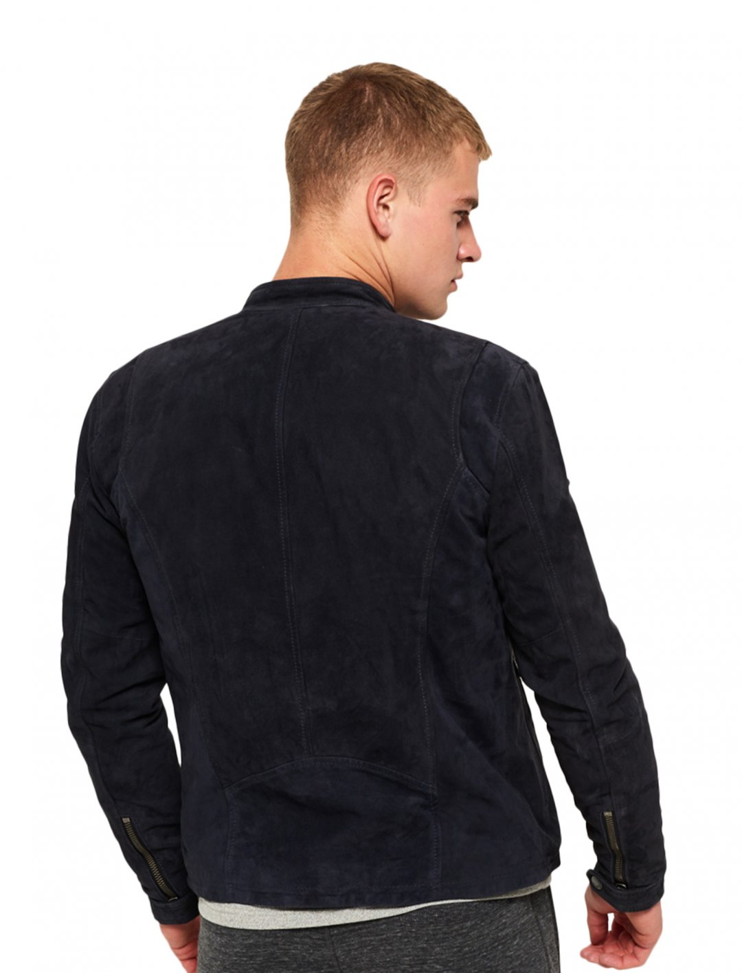 """Super Dry Suede Biker Jacket {""""id"""":5,""""product_section_id"""":1,""""name"""":""""Clothing"""",""""order"""":5} Super Dry"""