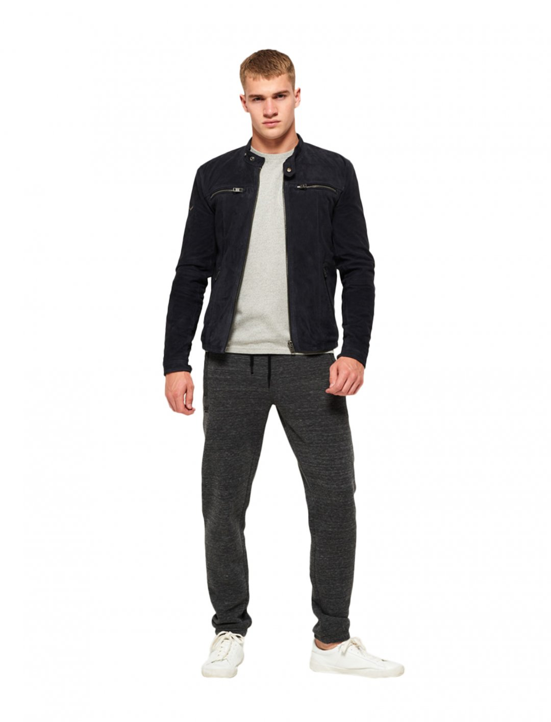 "Super Dry Suede Biker Jacket {""id"":5,""product_section_id"":1,""name"":""Clothing"",""order"":5} Super Dry"