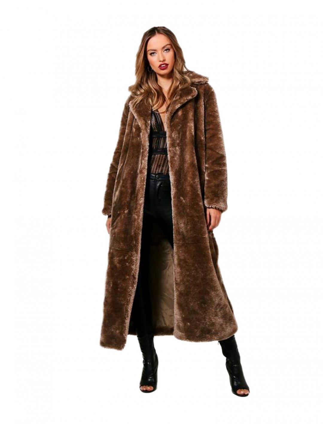 "Boohoo Maxi Fur Coat {""id"":5,""product_section_id"":1,""name"":""Clothing"",""order"":5} Boohoo"