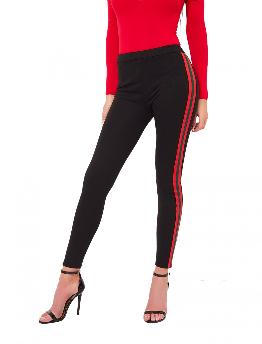 "Misspap Stripe Leggings {""id"":5,""product_section_id"":1,""name"":""Clothing"",""order"":5} Misspap"