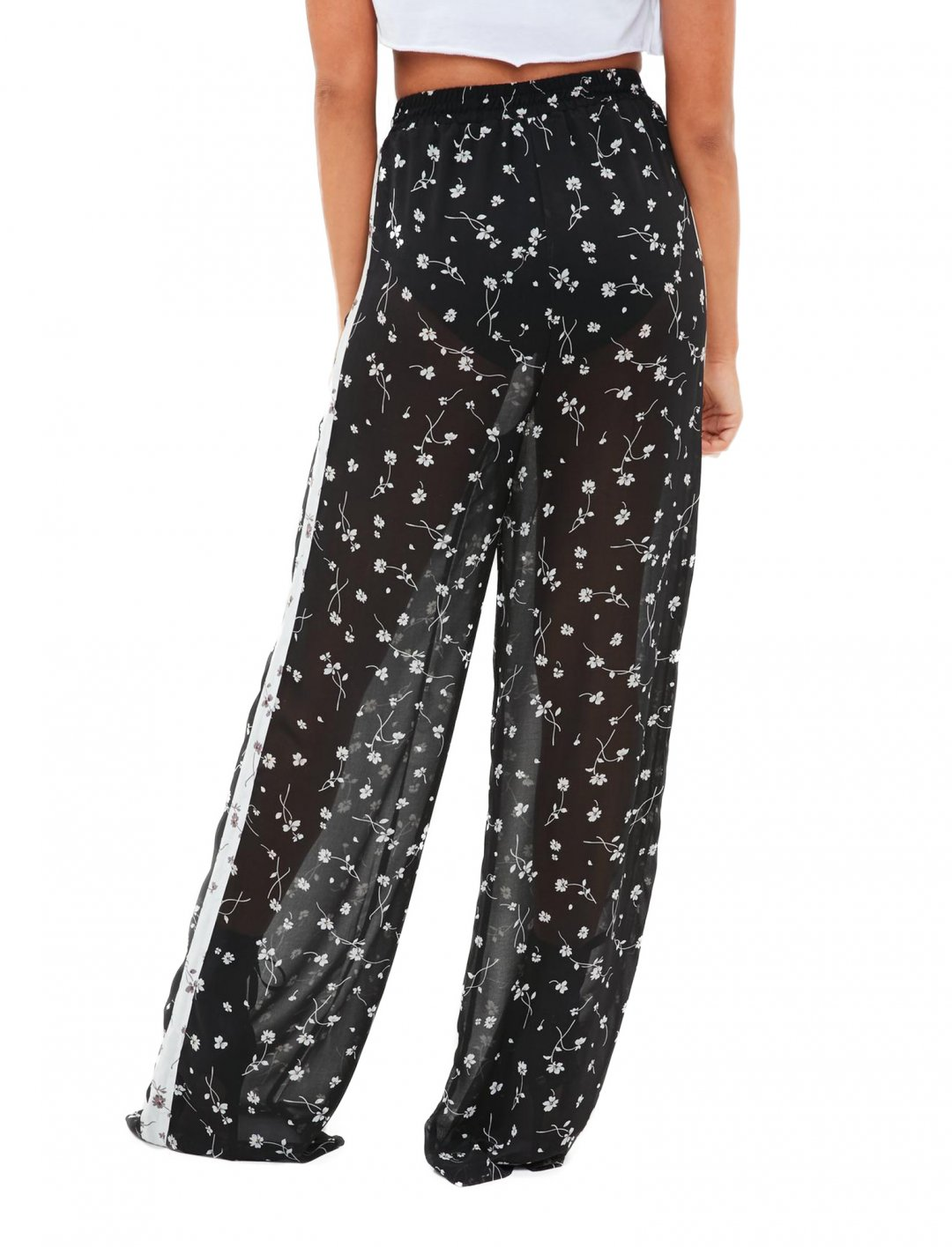 Missguided Sheer Trousers Clothing Missguided