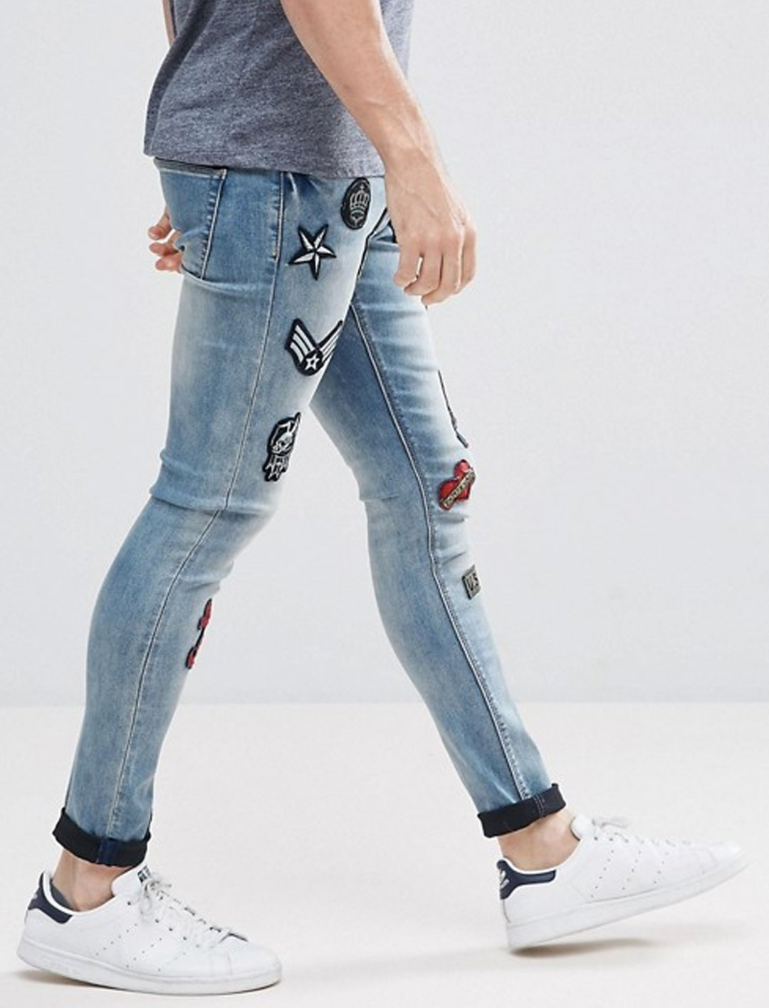 "Asos Patched jeans {""id"":5,""product_section_id"":1,""name"":""Clothing"",""order"":5} Asos"
