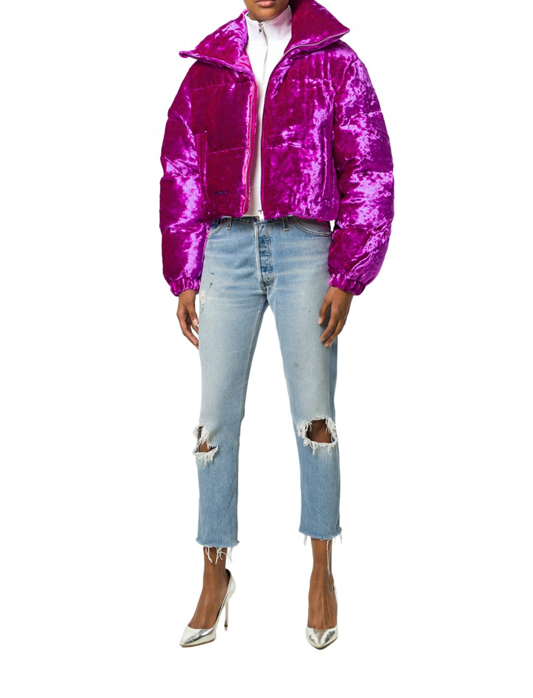 """Tinashe's Velour Puffer Jacket {""""id"""":5,""""product_section_id"""":1,""""name"""":""""Clothing"""",""""order"""":5} Misbhv"""
