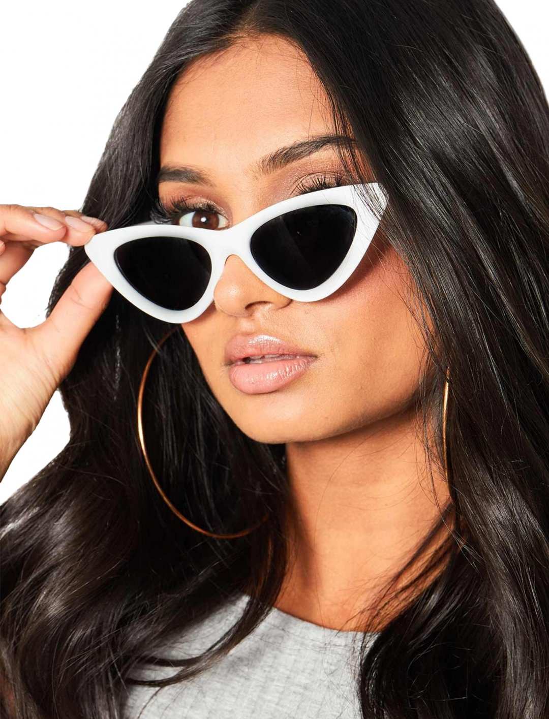 """Missy Empire White Sunglasses {""""id"""":16,""""product_section_id"""":1,""""name"""":""""Accessories"""",""""order"""":15} Missy Empire"""