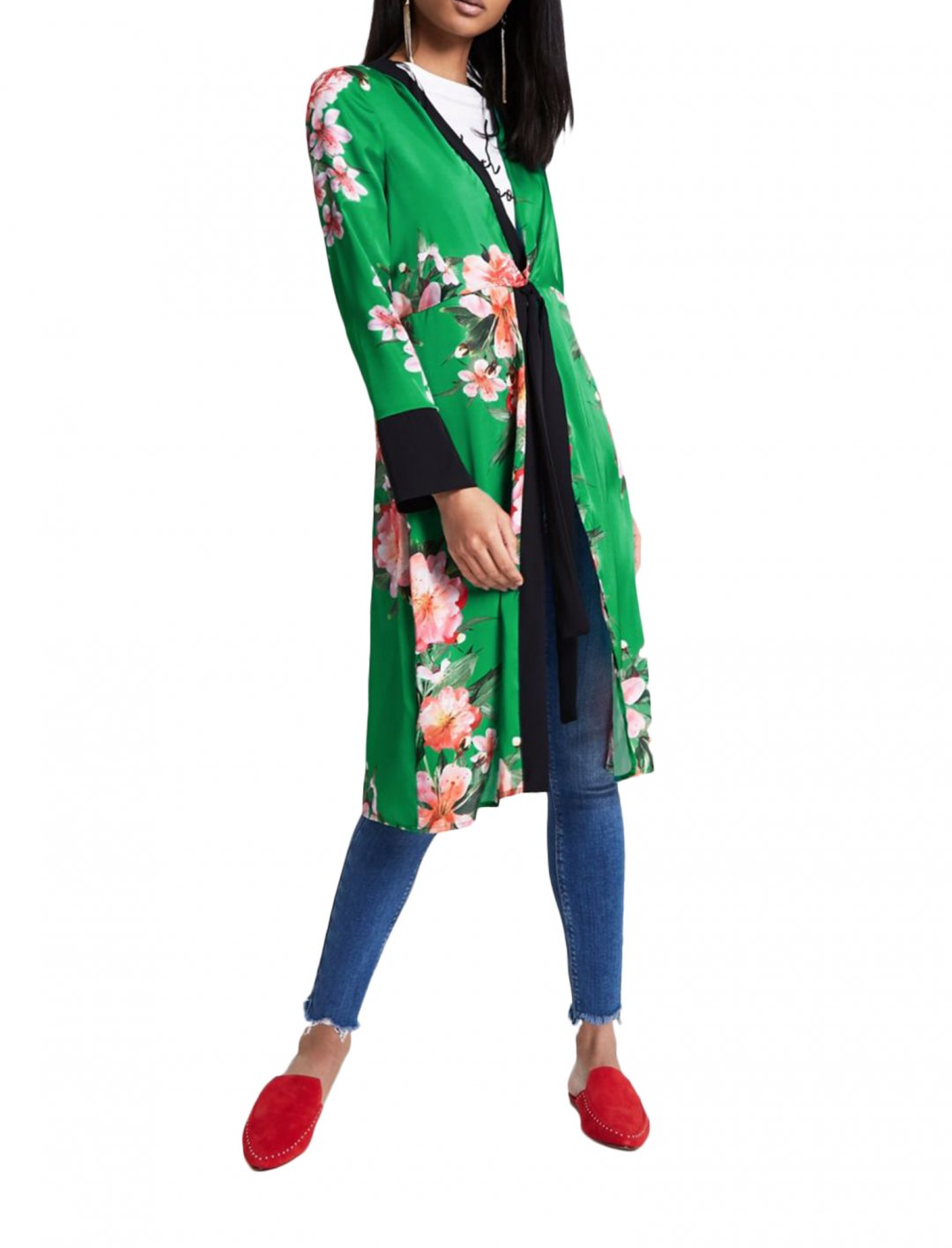 """River Island Green Kimono {""""id"""":5,""""product_section_id"""":1,""""name"""":""""Clothing"""",""""order"""":5} River Island"""