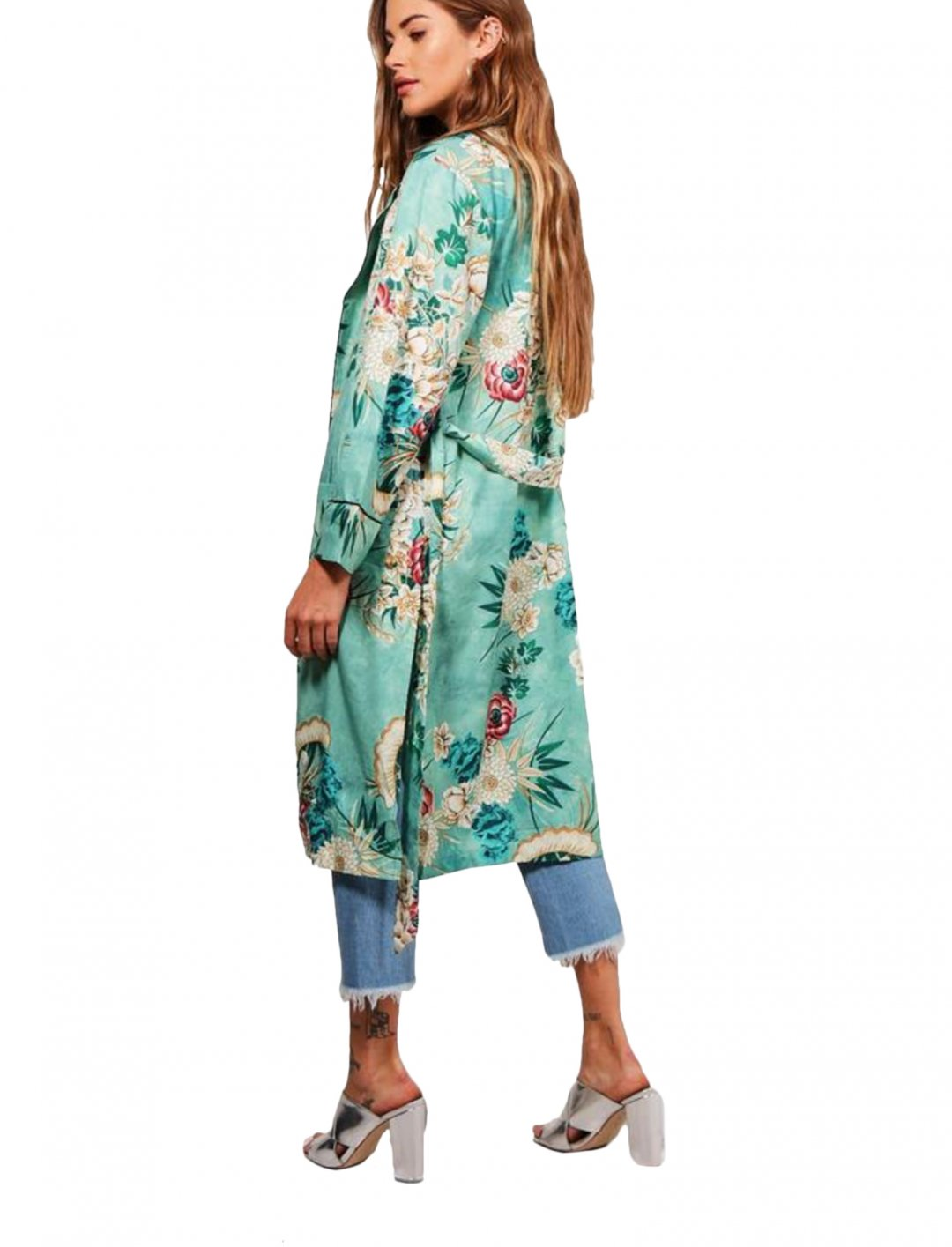 """Boohoo Floral Belted Kimono {""""id"""":5,""""product_section_id"""":1,""""name"""":""""Clothing"""",""""order"""":5} Boohoo"""