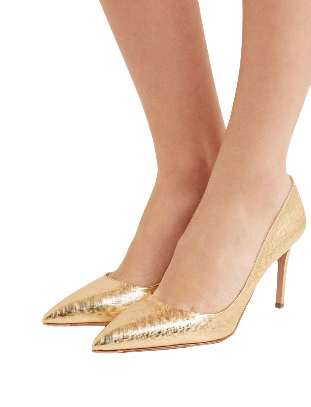 "Sofia's Metallic Pumps {""id"":12,""product_section_id"":1,""name"":""Shoes"",""order"":12} Prada"