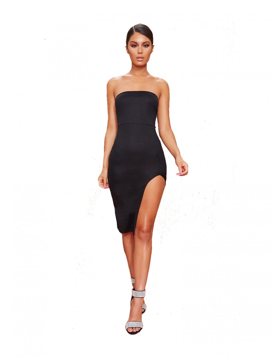 Split Front Dress Clothing Pretty Little Thing