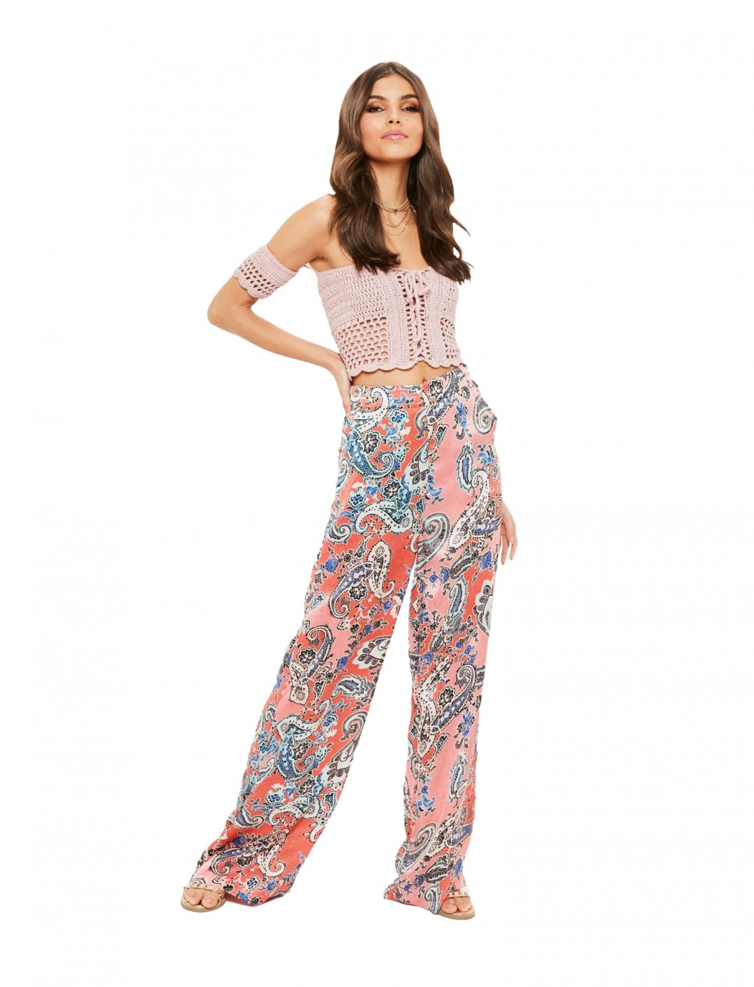 Missguised Printed Trousers Clothing Missguided