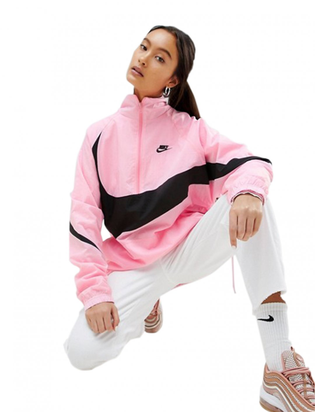 "Nike Half Zip Track Jacket {""id"":5,""product_section_id"":1,""name"":""Clothing"",""order"":5} Nike"