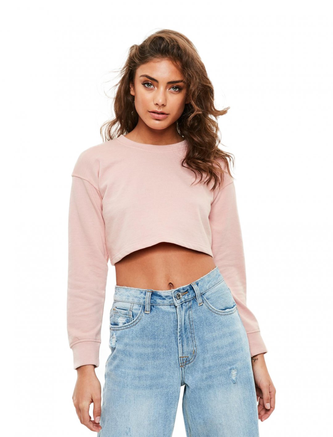 """Missguided  Cropped Sweatshirt {""""id"""":5,""""product_section_id"""":1,""""name"""":""""Clothing"""",""""order"""":5} Missguided"""