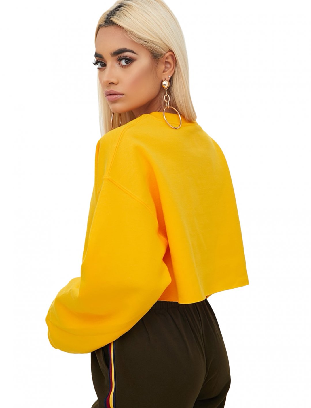 """Yellow Ultimate Cropped Sweater {""""id"""":5,""""product_section_id"""":1,""""name"""":""""Clothing"""",""""order"""":5} Pretty Little Thing"""