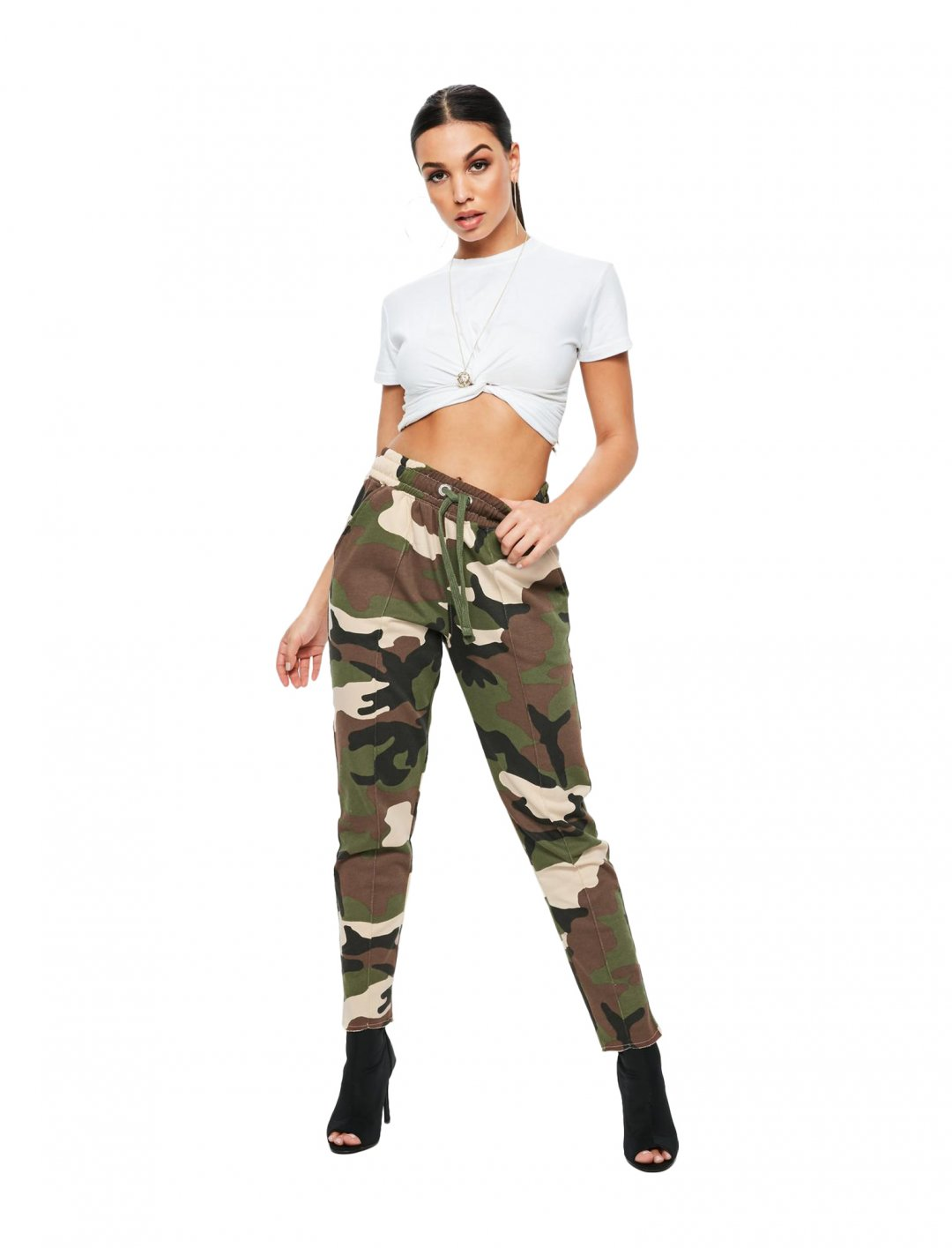 """Missguided Camo Joggers {""""id"""":5,""""product_section_id"""":1,""""name"""":""""Clothing"""",""""order"""":5} Missguided"""