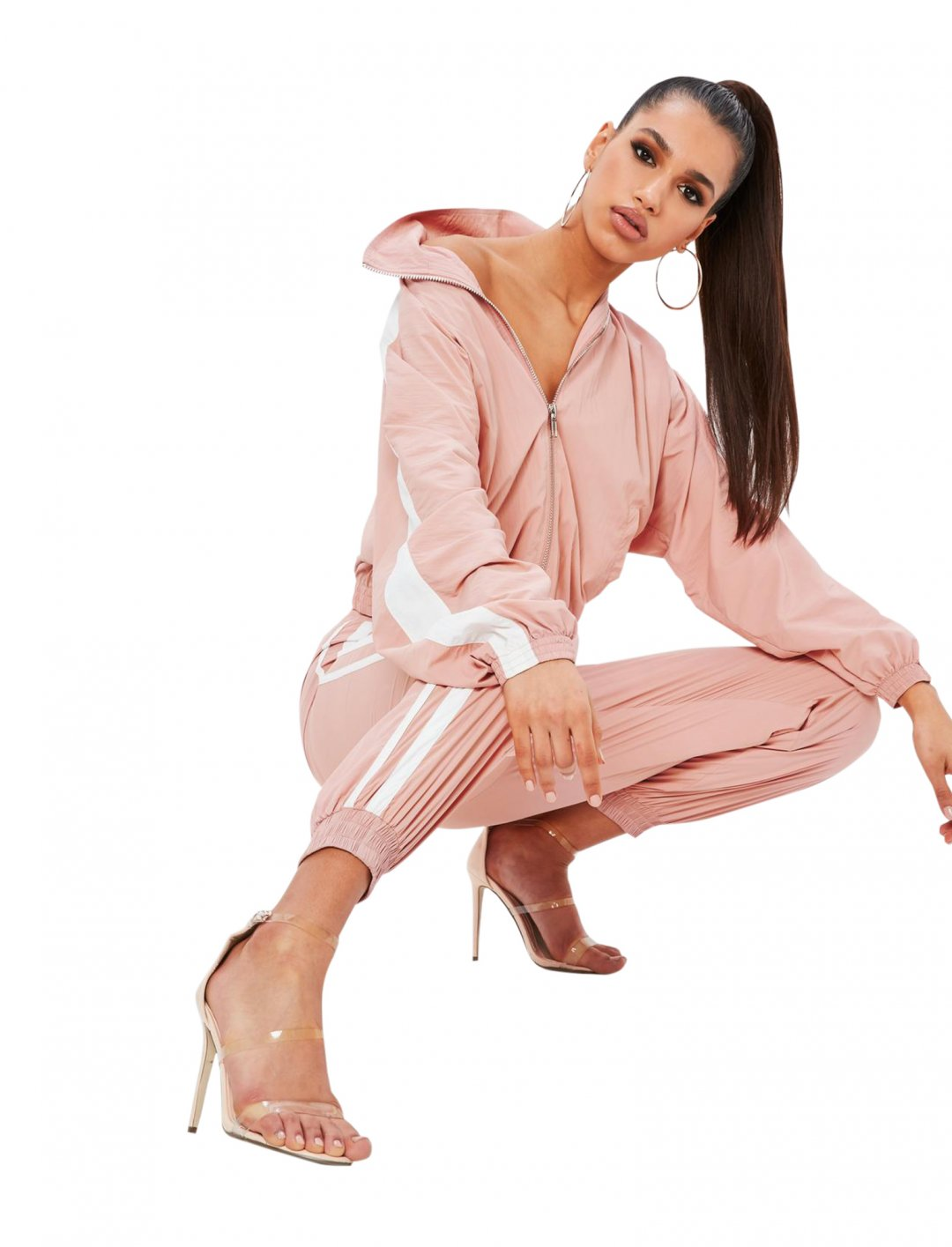 """Missguided Side Stripe Trousers {""""id"""":5,""""product_section_id"""":1,""""name"""":""""Clothing"""",""""order"""":5} Missguided"""