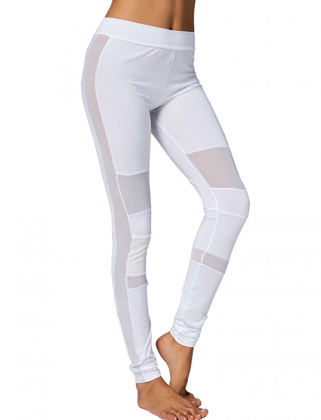 "Rose Gal Mesh Yoga Leggings {""id"":5,""product_section_id"":1,""name"":""Clothing"",""order"":5} Rose Gal"