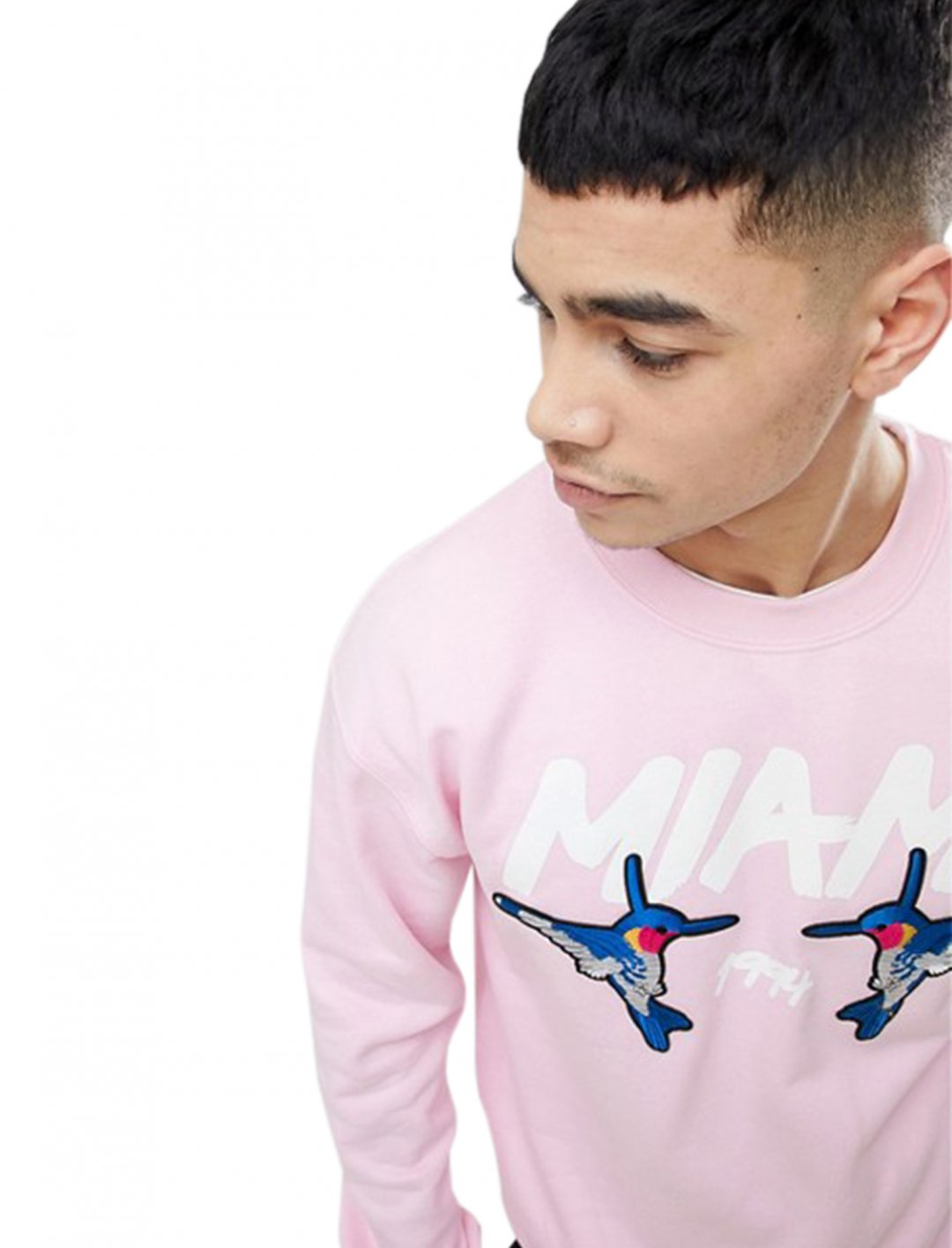 """boohooMAN Sweat With Bird {""""id"""":5,""""product_section_id"""":1,""""name"""":""""Clothing"""",""""order"""":5} boohooMAN"""