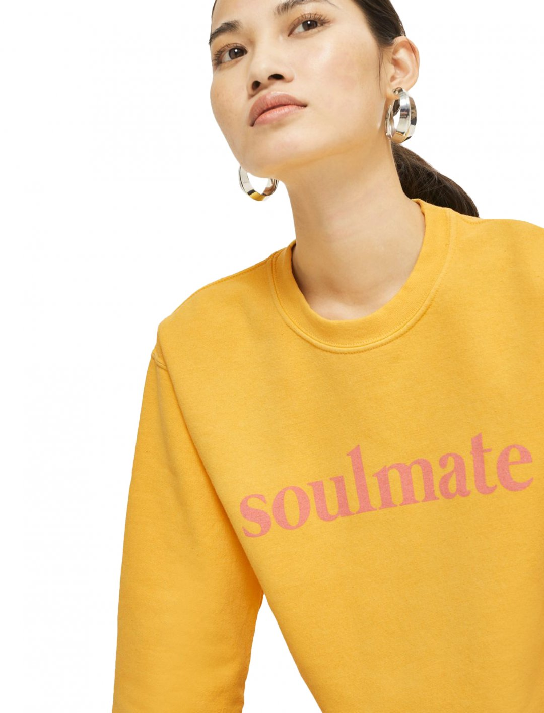 """Topshop Cropped 'Soulmate' Sweatshirt {""""id"""":5,""""product_section_id"""":1,""""name"""":""""Clothing"""",""""order"""":5} Topshop"""