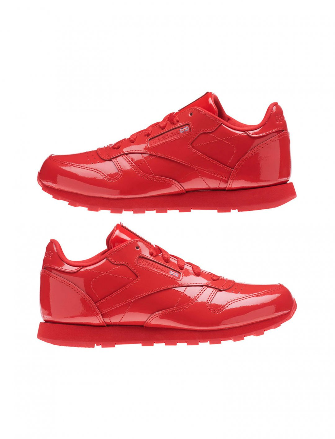"""Reebok Leather Patent Trainers {""""id"""":12,""""product_section_id"""":1,""""name"""":""""Shoes"""",""""order"""":12} Reebok"""