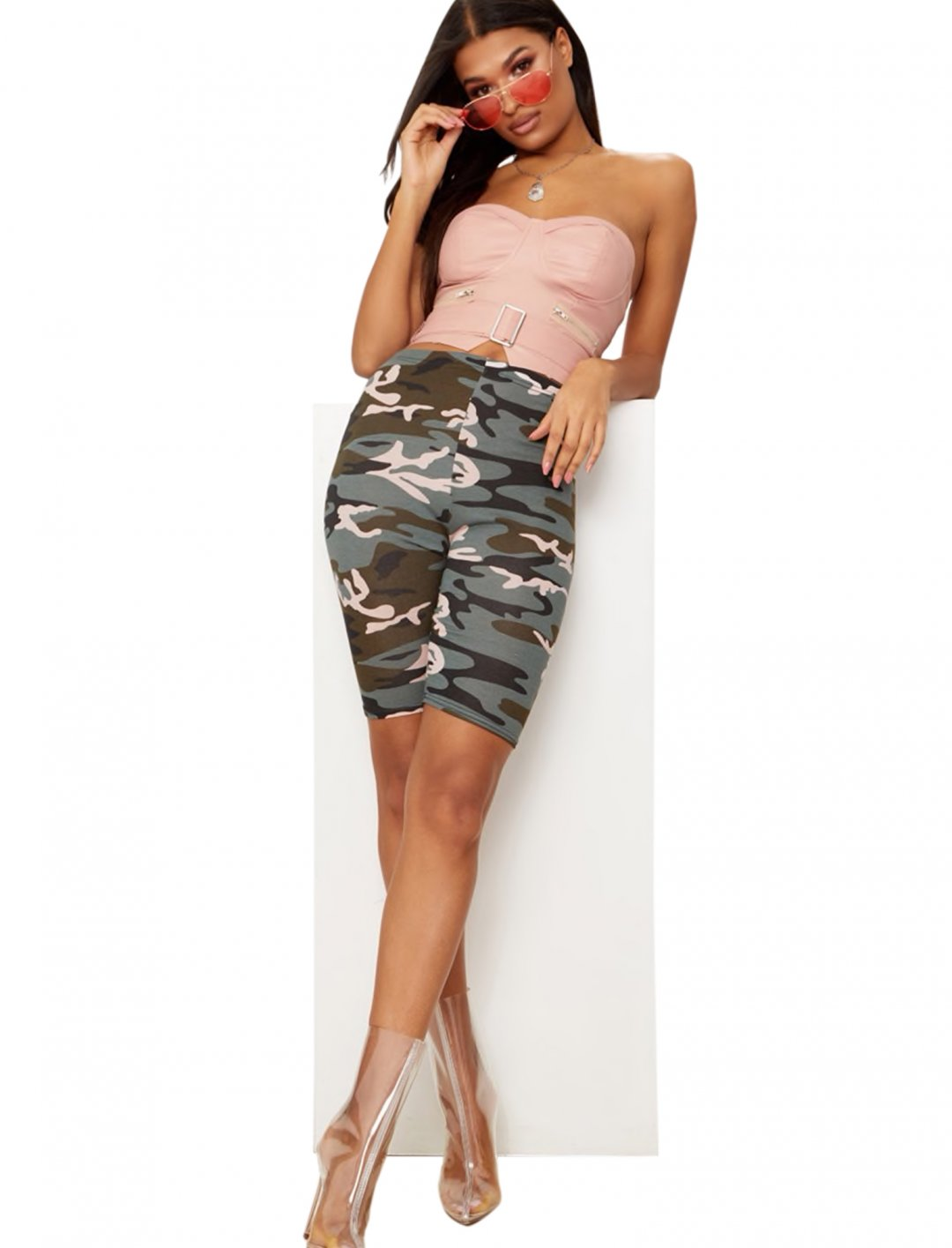 """Camo Print Shorts {""""id"""":5,""""product_section_id"""":1,""""name"""":""""Clothing"""",""""order"""":5} Pretty Little Thing"""