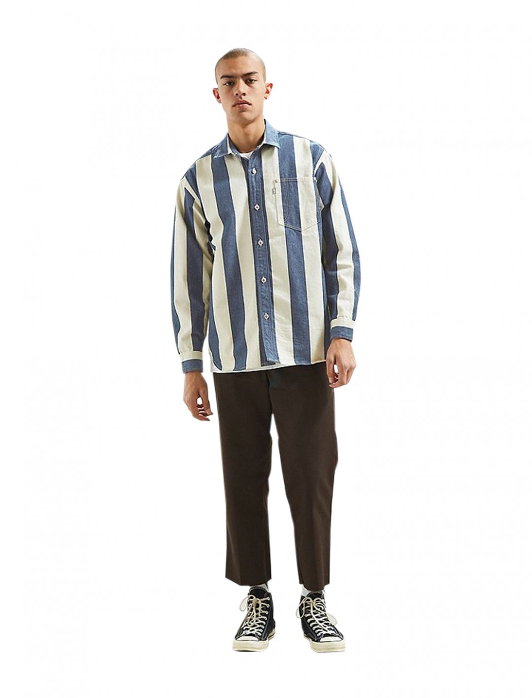 """Zion's Stripe Denim Shirt {""""id"""":5,""""product_section_id"""":1,""""name"""":""""Clothing"""",""""order"""":5} Levi's"""