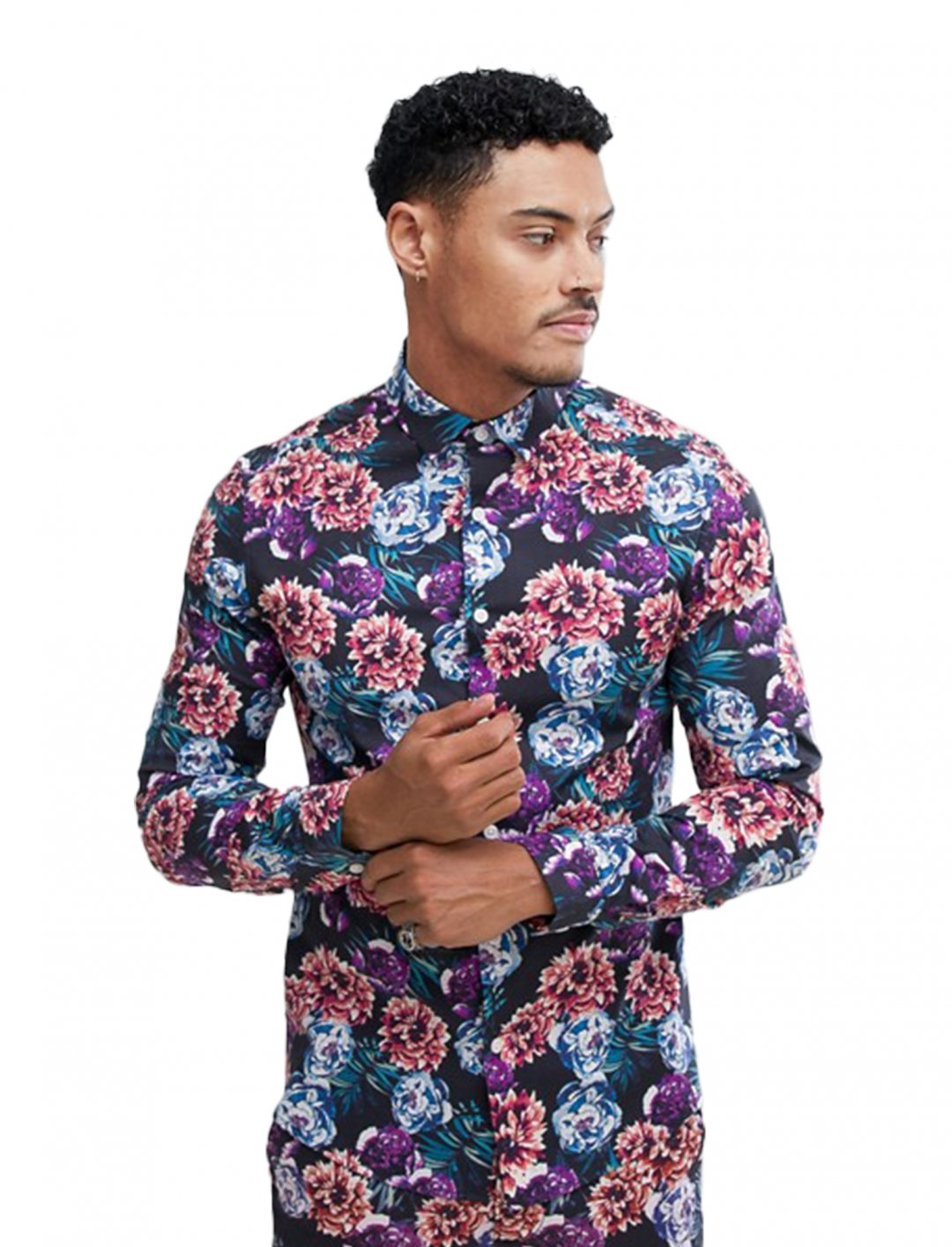"""Asos Skinny Floral Shirt {""""id"""":5,""""product_section_id"""":1,""""name"""":""""Clothing"""",""""order"""":5} Asos"""