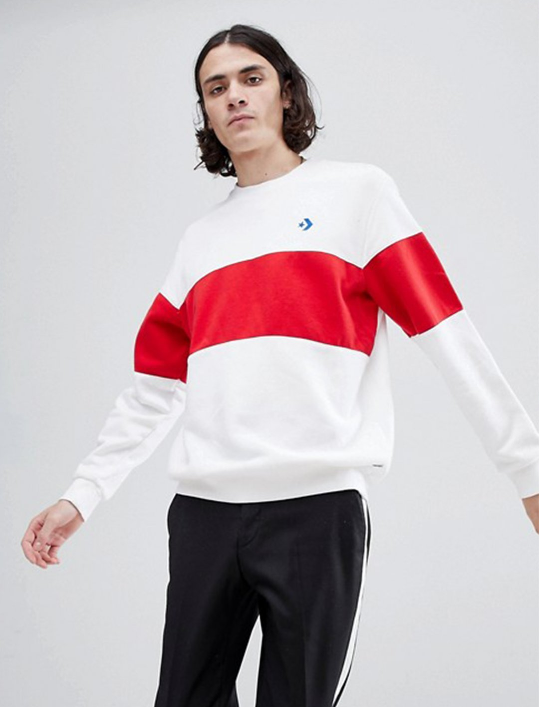 """Converse Crew Neck Sweatshirt {""""id"""":5,""""product_section_id"""":1,""""name"""":""""Clothing"""",""""order"""":5} Convere"""