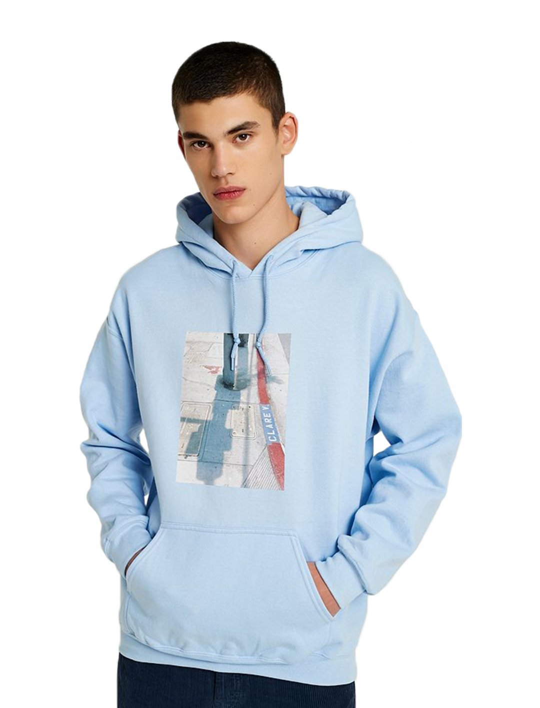"""UO Photographic Blue Hoodie {""""id"""":5,""""product_section_id"""":1,""""name"""":""""Clothing"""",""""order"""":5} Urban Outfitters"""