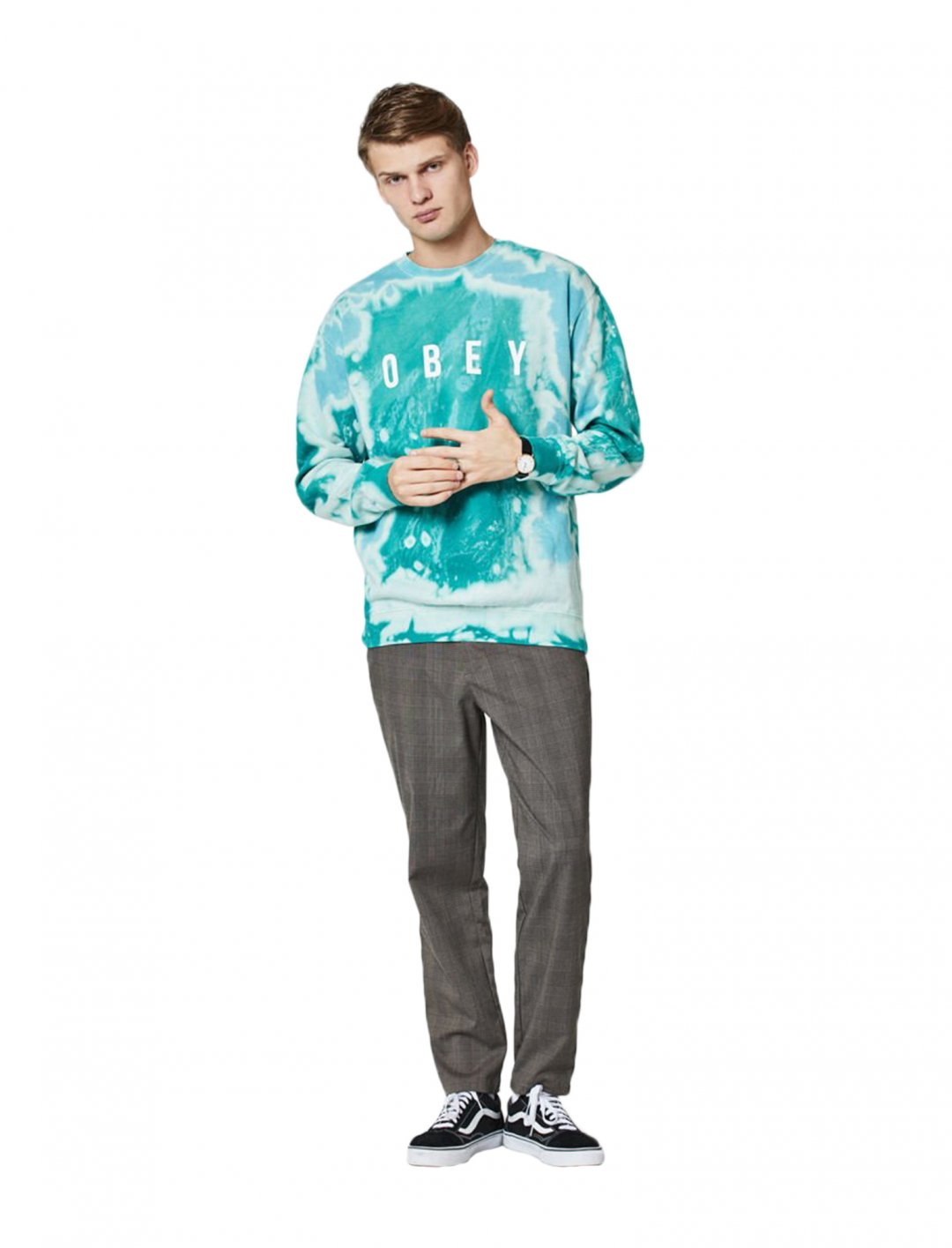 """Obey Tie Dye Sweatshirt {""""id"""":5,""""product_section_id"""":1,""""name"""":""""Clothing"""",""""order"""":5} Obey"""